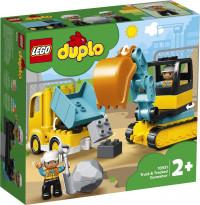 LEGO DUPLO Truck & Graafmachine met Rupsbanden - 10931