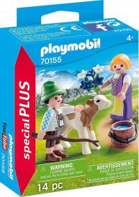 PLAYMOBIL Kinderen met kalf - 70155