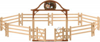 Schleich Paarden - Omheining Voor Paarden Met Poort 42434